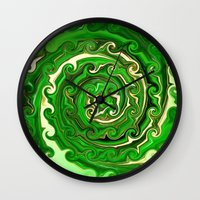 irish Wall Clocks featuring Irish Green by Chris' Landscape Images & Designs