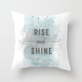 Rise and shine | watercolor turquoise Throw Pillow