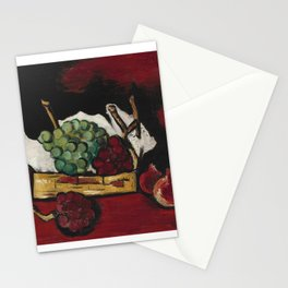 Marsden Hartley 1878-1943 GREEN AND PURPLE GRAPES IN BASKET Stationery Cards
