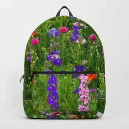 Close-up Wildflowers Backpack