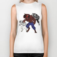 werewolf Biker Tanks featuring werewolf by American Artist