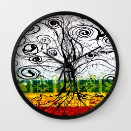 Rasta Tree Wall Clock