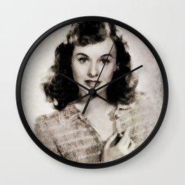 Paulette Goddard by JS Wall Clock