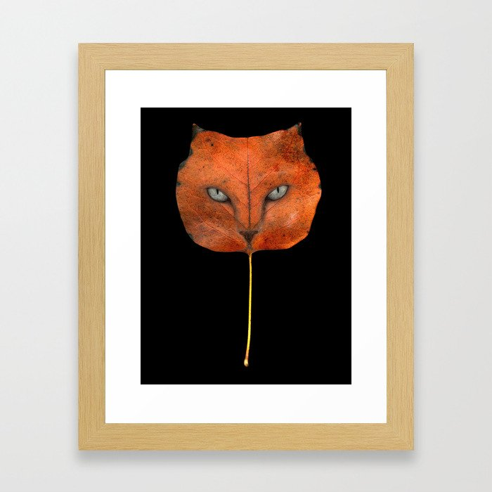 Autumn Cat-4 Framed Art Print