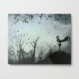 The Rooster's Call Metal Print