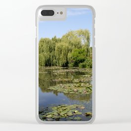 Monets Waterlily Pond Clear iPhone Case