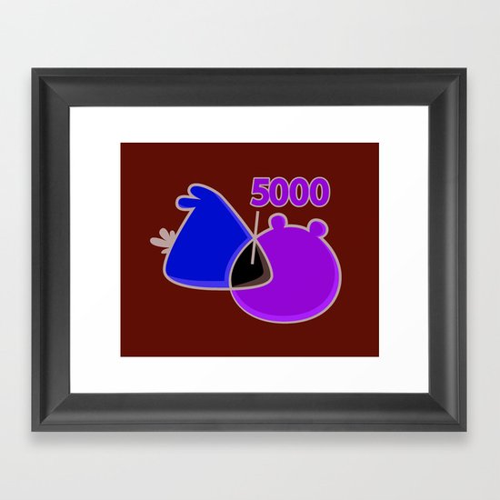 An Angry Venn Diagram (YELLOW) Framed Art Print