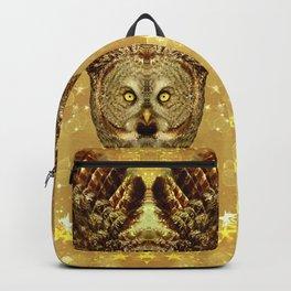 Golden Great Grey Owl Backpack