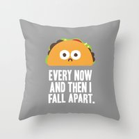 taco Throw Pillows featuring Taco Eclipse of the Heart by David Olenick