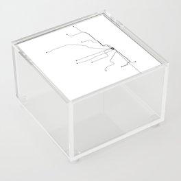 Chicago Subway White Map Acrylic Box