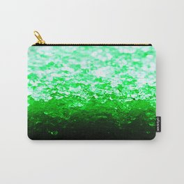 Emerald Green Ombre Crystals Carry-All Pouch