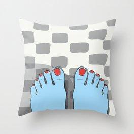 Yeti feet Throw Pillow