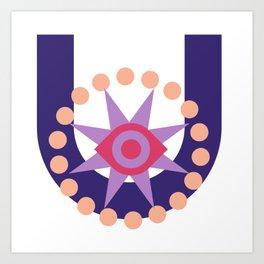 The violet star Art Print
