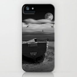 Row Boat on a Sandy Beach in Biscayne Bay Florida iPhone Case