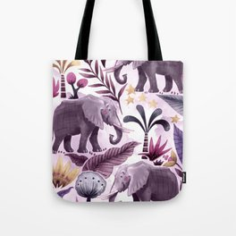 Elephant Forest Tote Bag