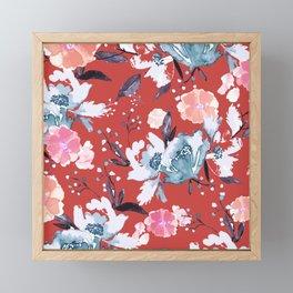 Vintage Floral Print 5 Framed Mini Art Print