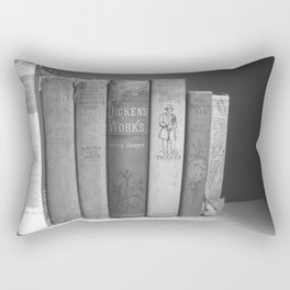 Old Worn Books Rectangular Pillow