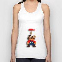tetris Tank Tops featuring Mario Tetris by Darthdaloon