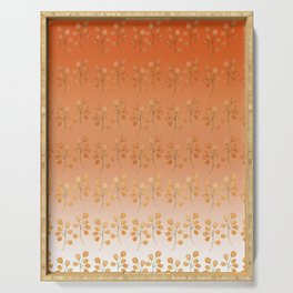 """""""Cactus flowers in soft orange"""" Serving Tray"""