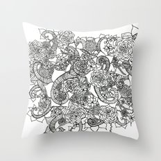 Growth is messy Throw Pillow