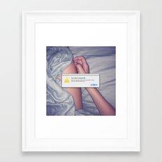 Delete Past Lovers (OK)  Framed Art Print