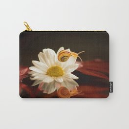 Baby Snail on a flower in the water  Carry-All Pouch