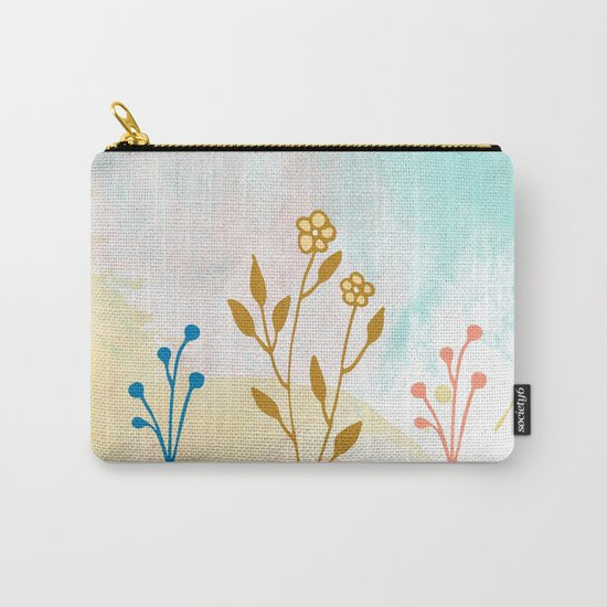 Acuarela flower Carry-All Pouch