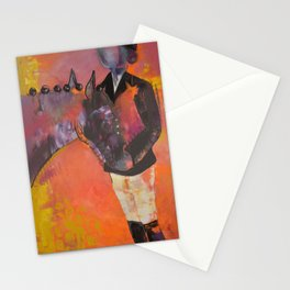 Abstract Dressage Stationery Cards