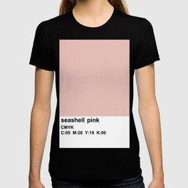 pantone colorblocking design, cmyk pink T-shirt
