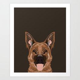 Skylar - German Shepherd gifts for dog people dog lover gifts german shepherd owners perfect gifts  Art Print