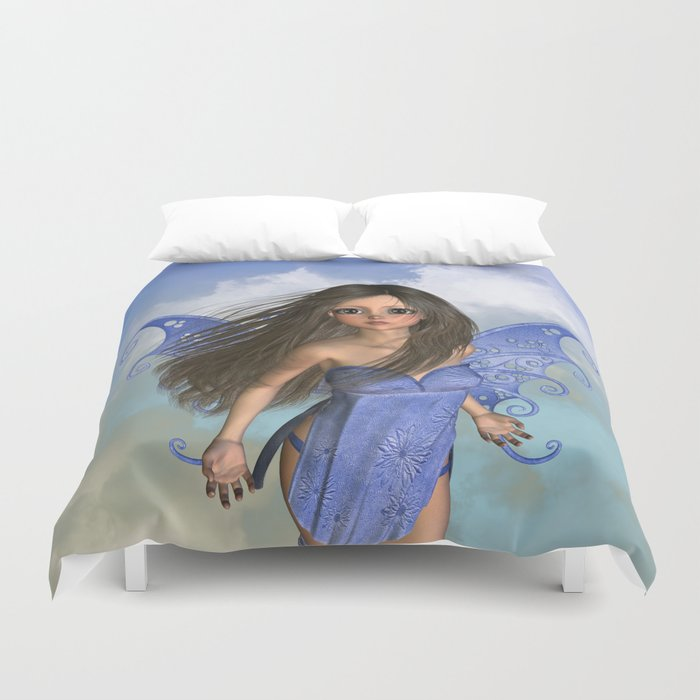 Fairy Flight Bleu 2 Duvet Cover