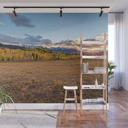 COLORADO ROCKY MOUNTAINS AUTUMN SUNSET Wall Mural
