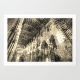 Rochester Cathedral Vintage Art Print