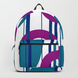 Three Rings pink with turquoise background Backpack