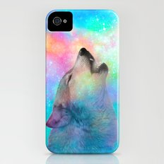 Breathing Dreams Like Air (Wolf Howl Abstract) iPhone (4, 4s) Slim Case