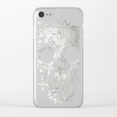 Simple Skull Clear iPhone Case
