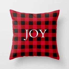 Joy Red Buffalo Check Throw Pillow
