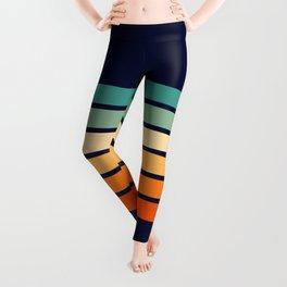 Marynda - Classic Colorful 70s Vintage Style Retro Summer Stripes Leggings