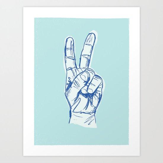 Peace by Hand Art Print