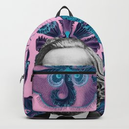 Trippy Haeckel Vibes Under the Sea Backpack