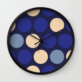 Mr Peacock Polka Dots Wall Clock