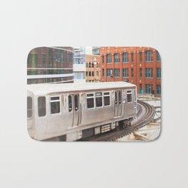 Chicago Train Photography - 3426 Bath Mat
