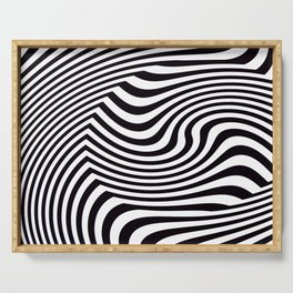 Black and White Pop Art Optical Illusion Serving Tray