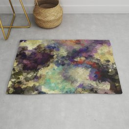 Contemporary Abstract Painting in Purple / Violet Color Rug