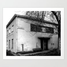forgotten train station Art Print