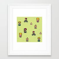 earthbound Framed Art Prints featuring Earthbound - Mother 2 by Nikki White