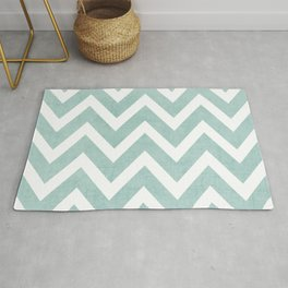 robins egg blue chevron Rug