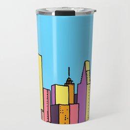 architecture art, new york city illustration, new york skyline, Travel Mug