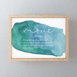 Moxie Definition - Blue Watercolor Framed Mini Art Print