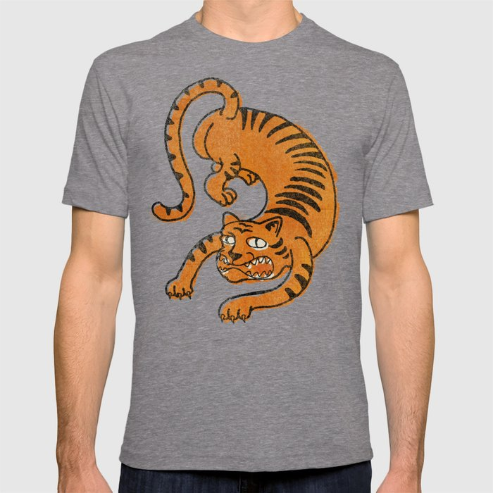 435d1479c9b3d vintage offset poorly drawn classic tiger tattoo T-shirt by ...